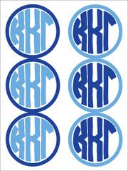 Kappa Kappa Gamma Monogram Sticker Sheet