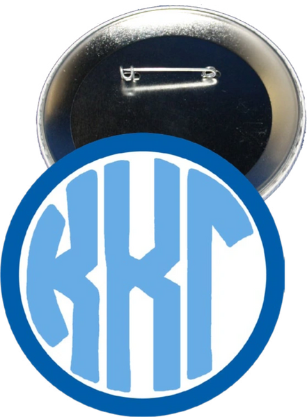 Kappa Kappa Gamma Monogram Dark Blue Button