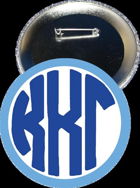 Kappa Kappa Gamma Monogram Light Blue Button