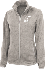 Kappa Kappa Gamma Letters Heathered Fleece Jacket