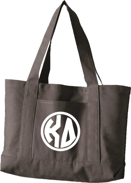 Kappa Delta Monogram Canvas Tote Bag