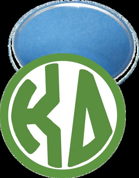 Kappa Delta Monogram Green Mirror