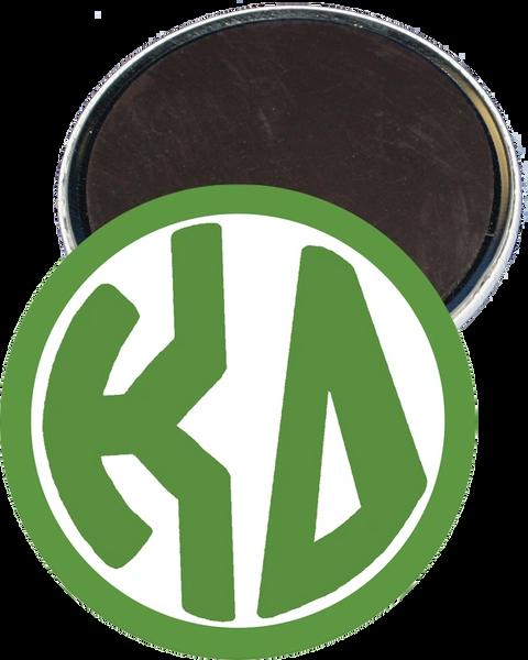 Kappa Delta Monogram Green Magnet