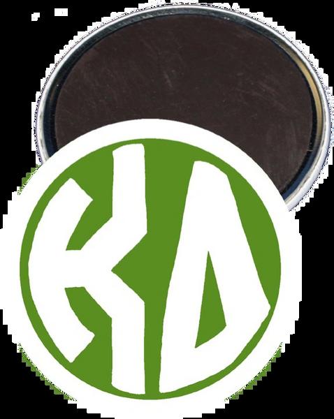 Kappa Delta Monogram White Magnet
