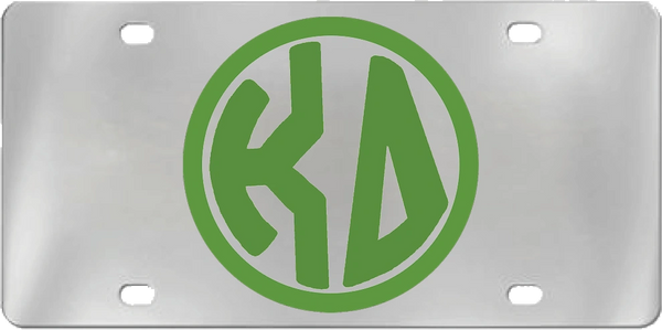 Kappa Delta Aluminum Monogram License Plate
