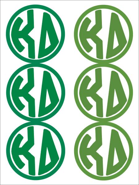 Kappa Delta Monogram Sticker Sheet