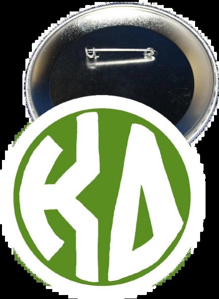 Kappa Delta Monogram White Button