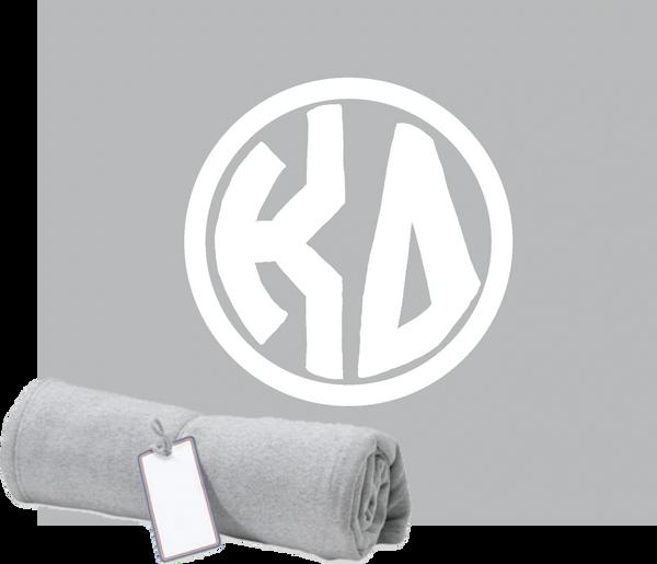 Kappa Delta Monogram Sweatshirt Blanket