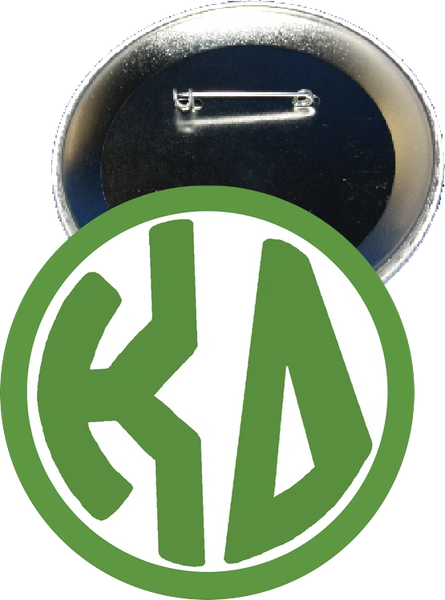 Kappa Delta Monogram Green Button
