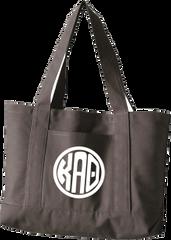 Kappa Alpha Theta Monogram Canvas Tote Bag