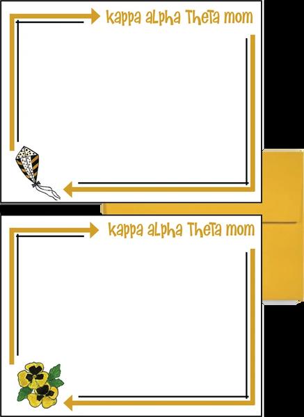 Kappa Alpha Theta Mom Arrow Postcards
