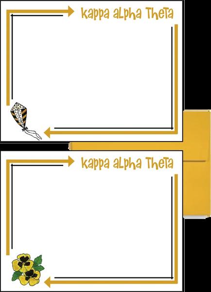 Kappa Alpha Theta Arrow Postcards