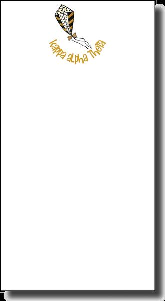 Kappa Alpha Theta Notepad - Skinny