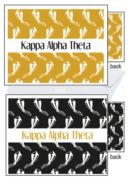 Kappa Alpha Theta Sorority Notecards