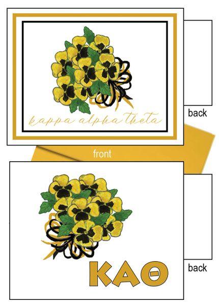 Kappa Alpha Theta Flower Notecards