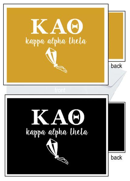 Kappa Alpha Theta Letter Notecards