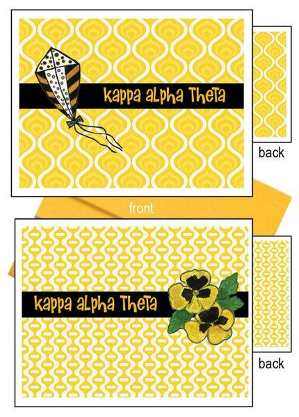 Kappa Alpha Theta Logo Notecards