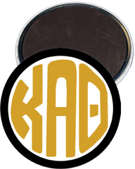 Kappa Alpha Theta Monogram Black Magnet