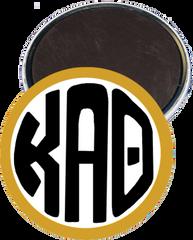 Kappa Alpha Theta Monogram Gold Magnet