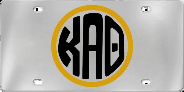 Kappa Alpha Theta Aluminum Monogram License Plate