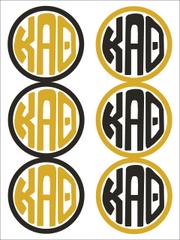 Kappa Alpha Theta Monogram Sticker Sheet
