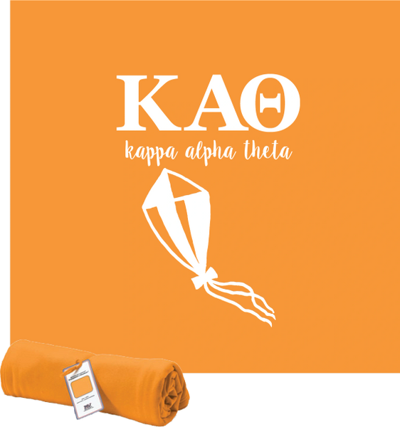 Kappa Alpha Theta Logo Sweatshirt Blanket