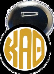 Kappa Alpha Theta Monogram Black Button