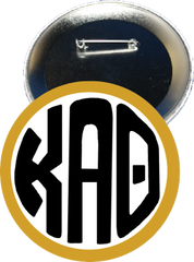 Kappa Alpha Theta Monogram Gold Button