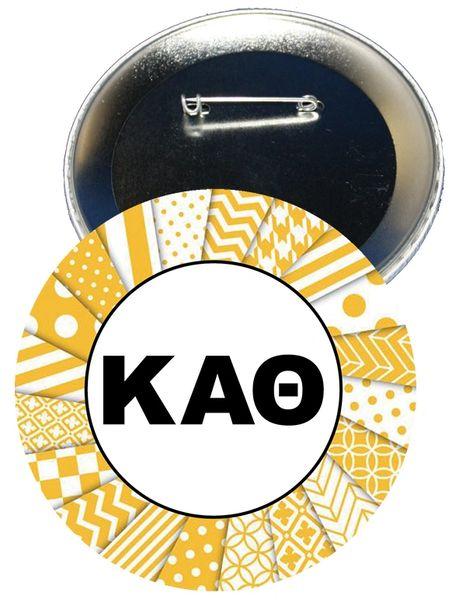 Kappa Alpha Theta Letters Button