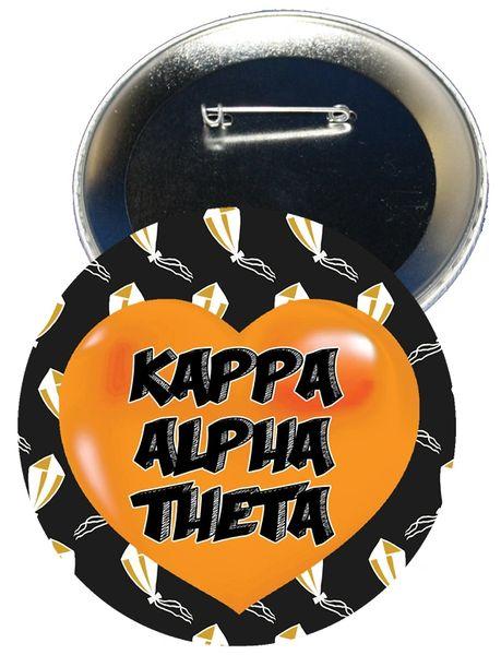 Kappa Alpha Theta Heart Button