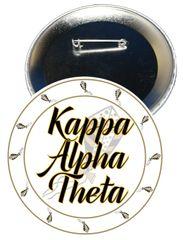 Kappa Alpha Theta Sorority Button