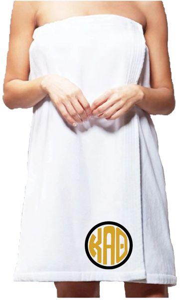 Kappa Alpha Theta Monogram Towel Wrap