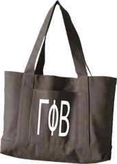 Gamma Phi Beta Letters Canvas Tote Bag