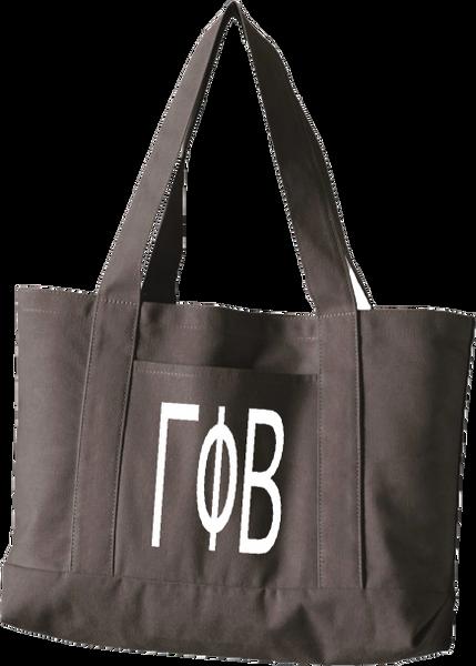 Gamma Phi Beta Letters Canvas Tote Bag