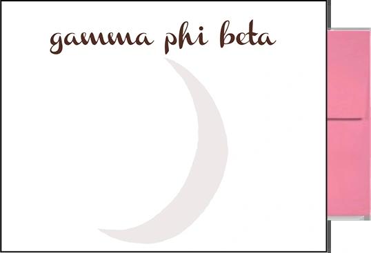 Gamma Phi Beta Background Postcards