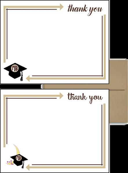 Gamma Phi Beta Graduation Postcards