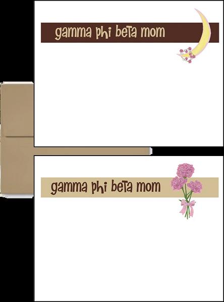 Gamma Phi Beta Mom Logo Postcards