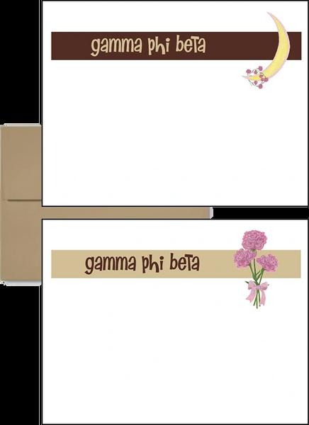 Gamma Phi Beta Logo Postcards