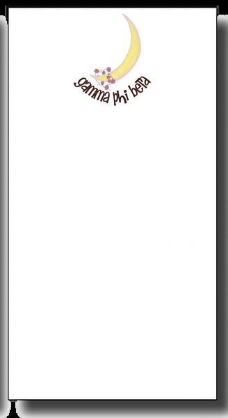 Gamma Phi Beta Notepad - Skinny