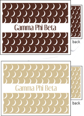 Gamma Phi Beta Sorority Notecards