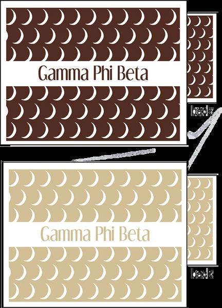 Gamma Phi Beta Sorority Notecards