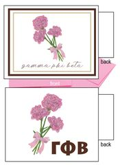 Gamma Phi Beta Flower Notecards