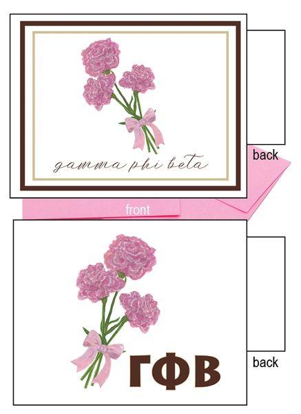 Gamma Phi Beta Flower Notecards
