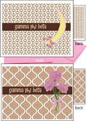 Gamma Phi Beta Logo Notecards