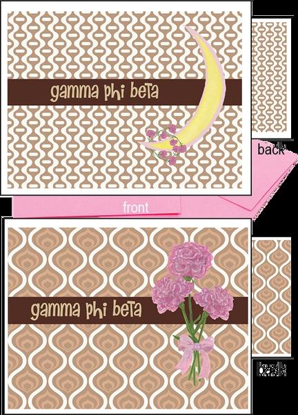 Gamma Phi Beta Logo Notecards