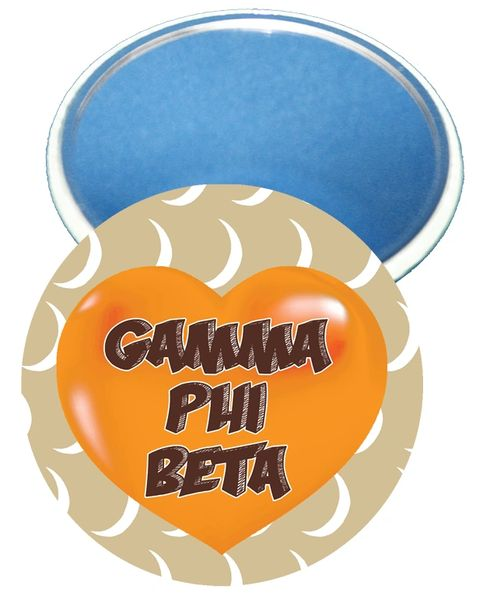 Gamma Phi Beta Heart Mirror