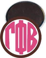 Gamma Phi Beta Monogram Brown Magnet