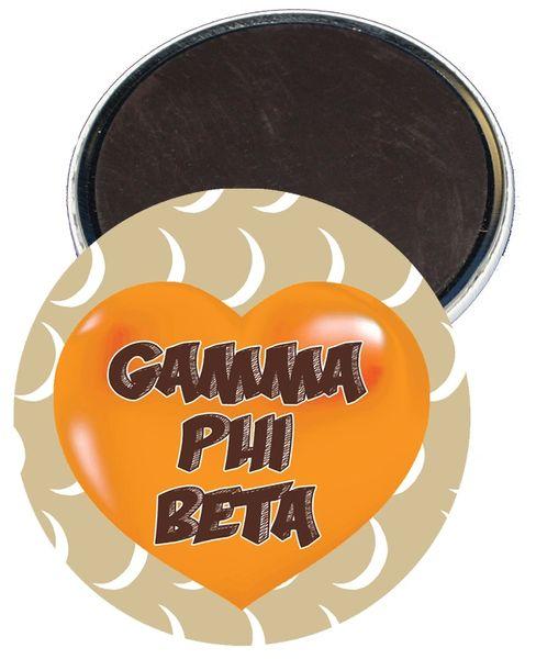 Gamma Phi Beta Heart Magnet