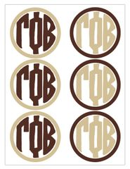 Gamma Phi Beta Monogram Sticker Sheet