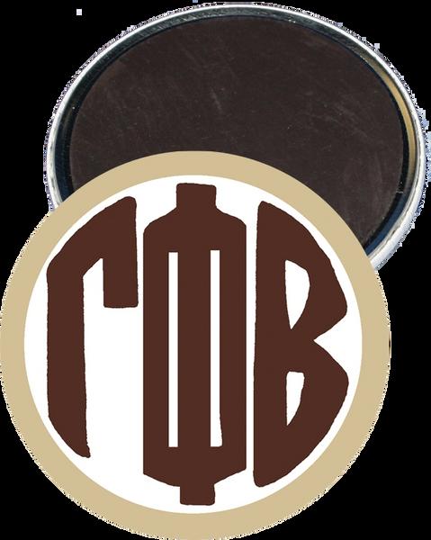 Gamma Phi Beta Monogram Tan Button